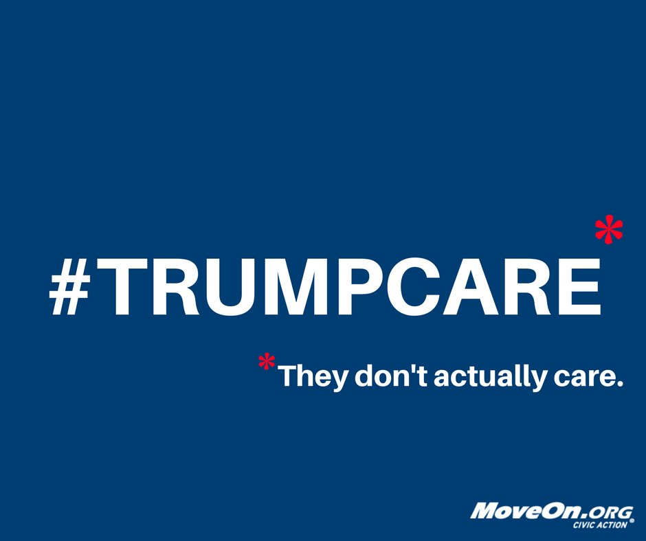 You. Keep it up. We got this. #ResistTrumpCare #Standwith24M #ProtectO...