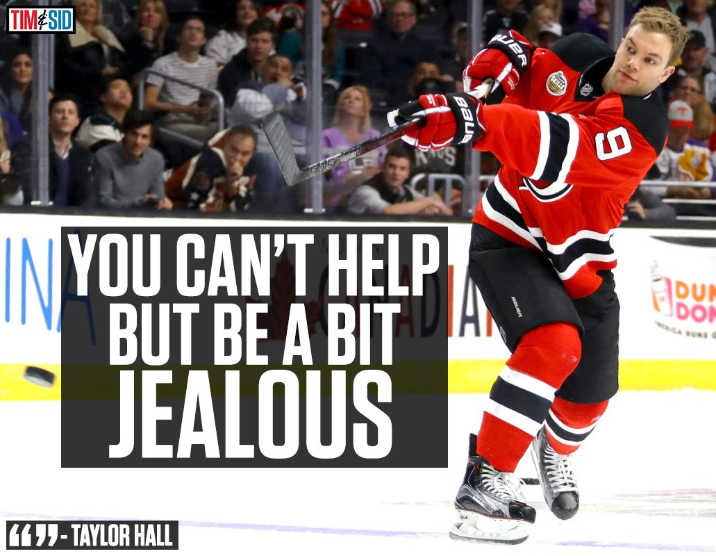How does Taylor Hall feel about the Oilers making the playoffs without...