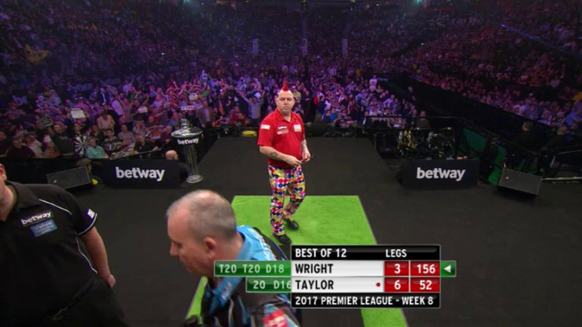 When he needed a big shot to save himself...of course Peter Wright del...