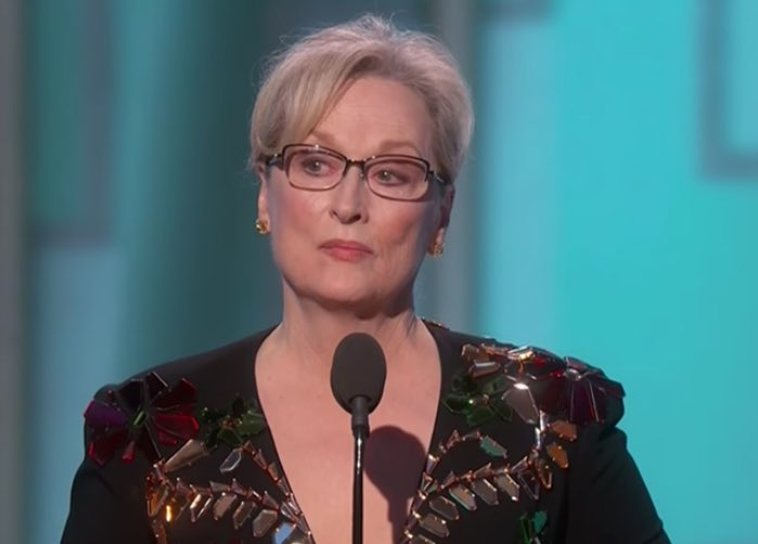 #GoldenGlobes rant cost Meryl Streep role in 'Hillary Clinton The Movie'  http://www. theamericanmirror.com/report-golden- globes-rant-cost-meryl-streep-role-hillary-clinton-movie/ &nbsp; … <br>http://pic.twitter.com/9XDzig2UIg