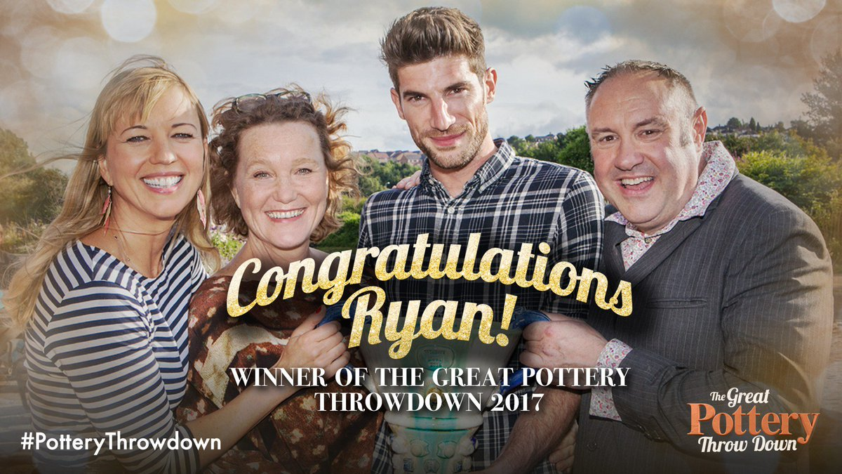 The winner of #PotteryThrowdown 2017 is… RYAN! https://t.co/ycshnJqelh