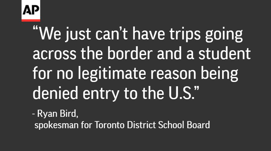 tdsb travel ban to u