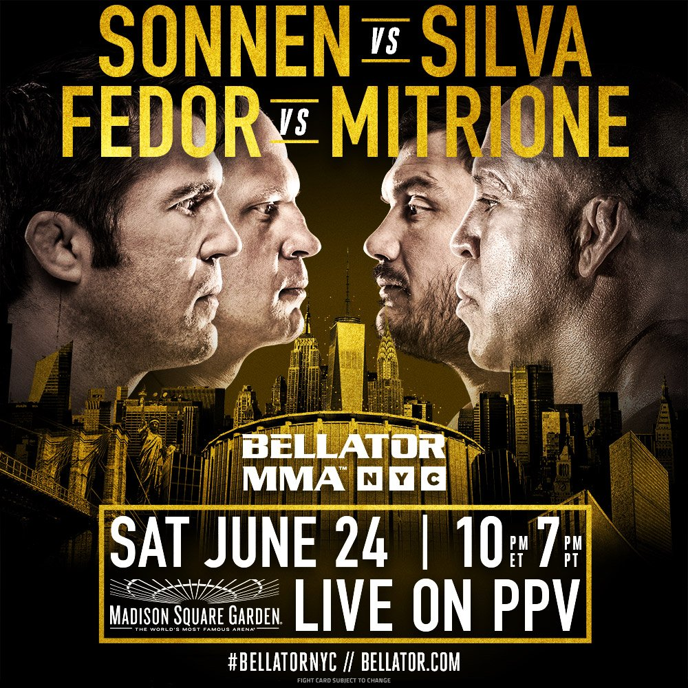 As promised, we're bringing the biggest fight card in @BellatorMMA his...