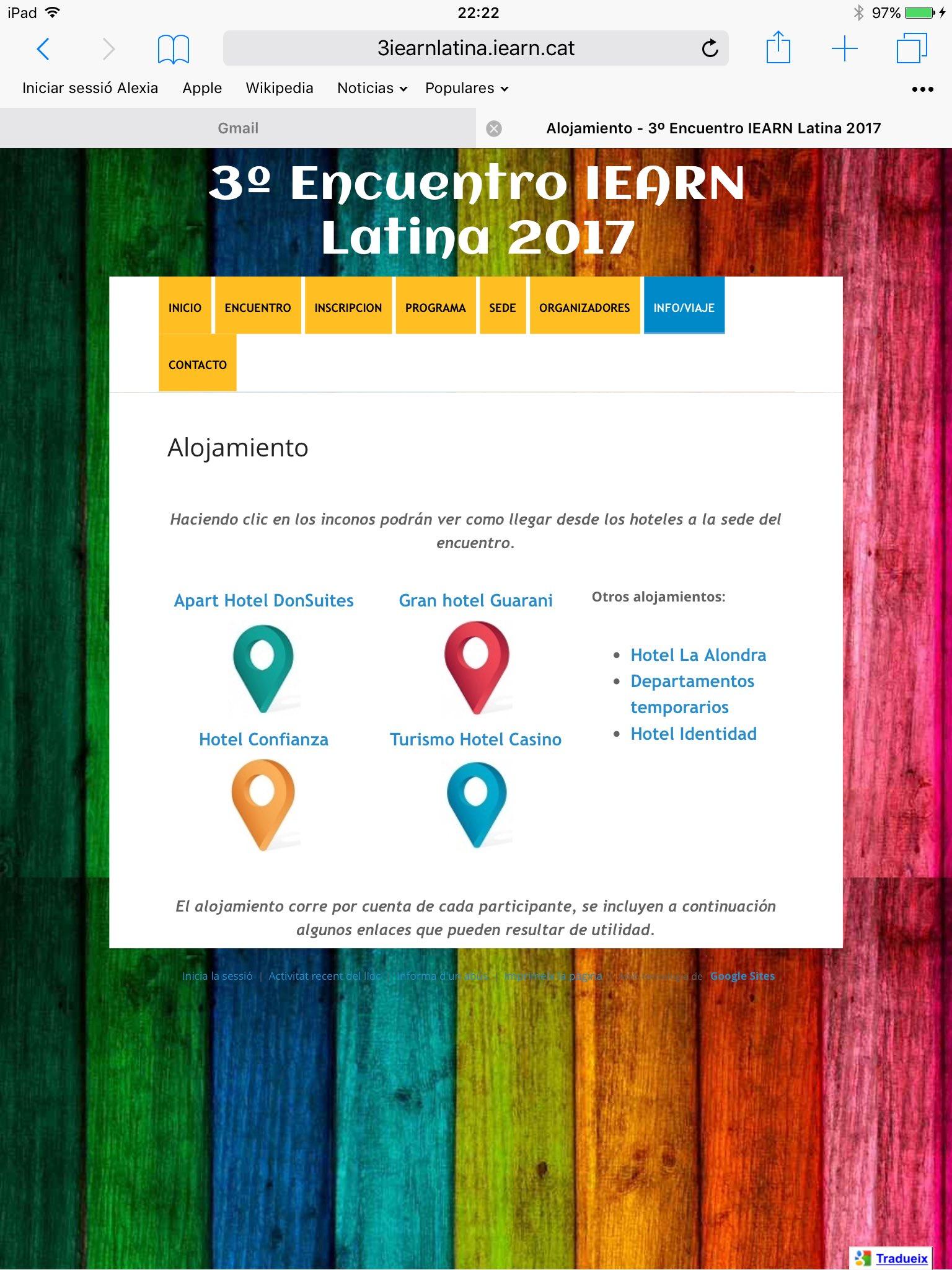 Actualización web #iearnlatina2017: localización hoteles https://t.co/7jHRDzQeLG https://t.co/yMgmP4qBs6