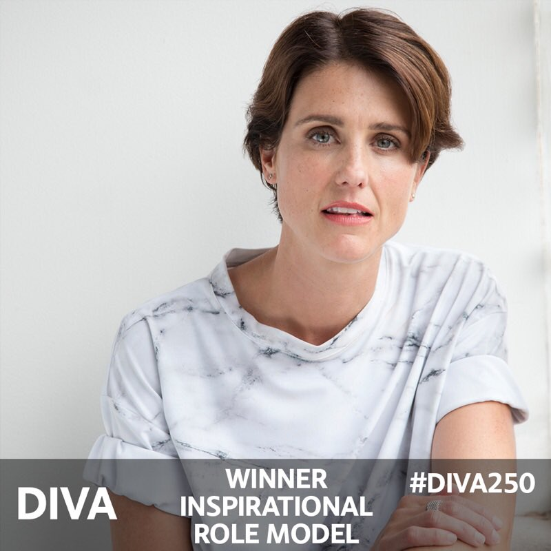 The winner of the #DIVA250 Inspirational Role Model of the Year Award...