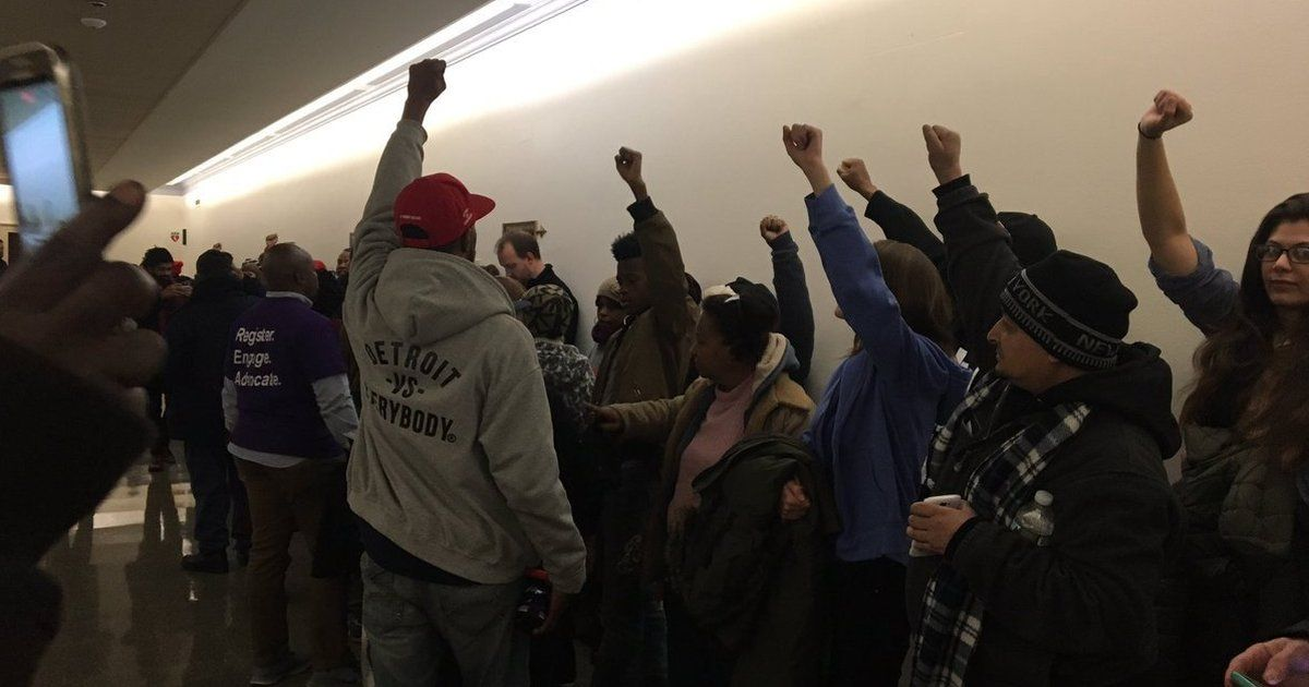 #WeFightBack protesters are storming the halls of Congress to send a m...