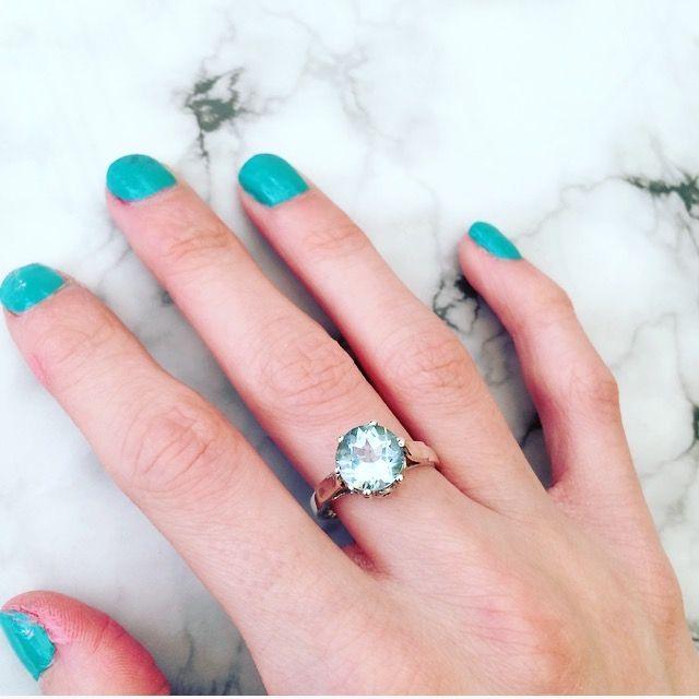 Karma Blue Topaz Sterling Silver Ring