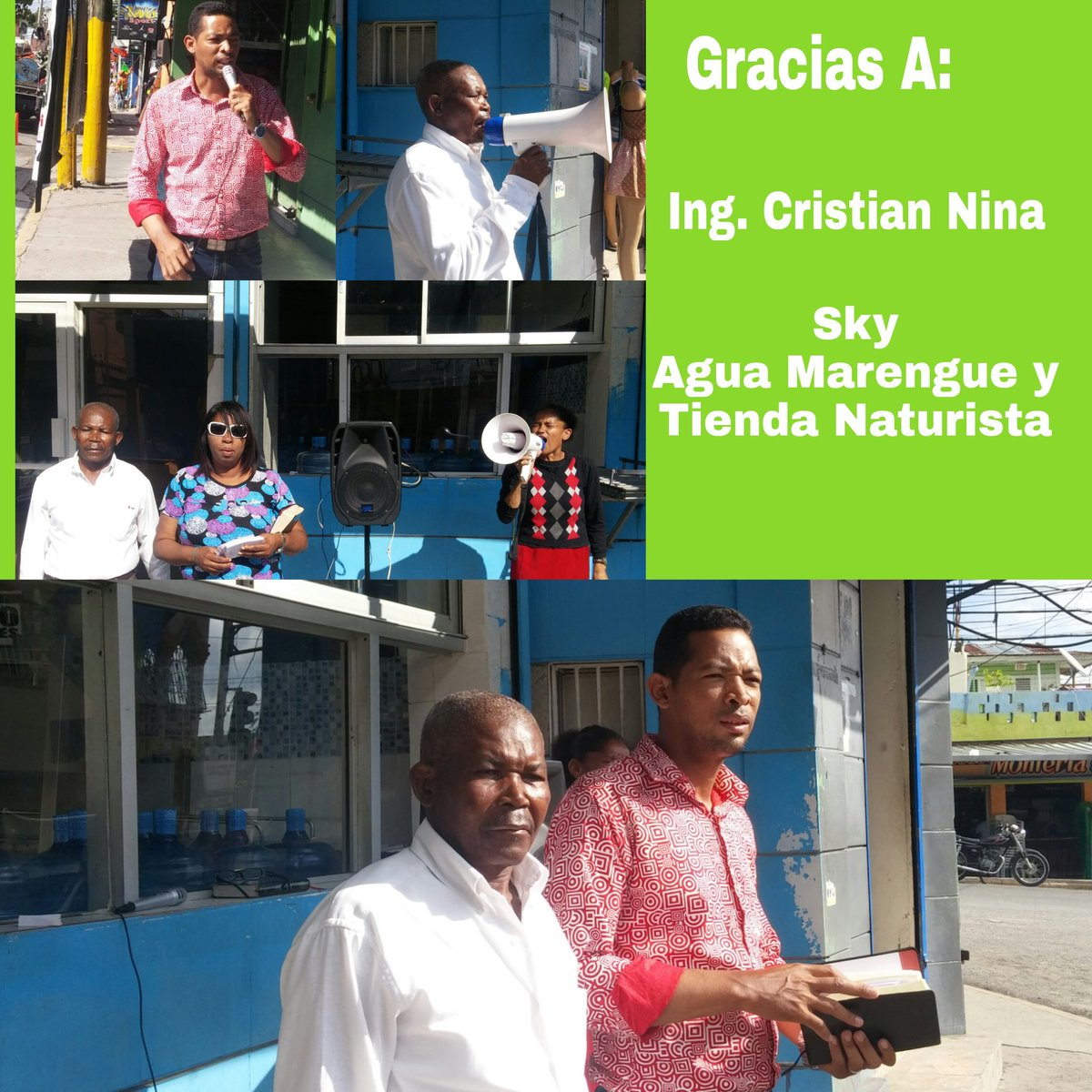 #Haina.- Cultos de Alabanzas al Rey de #Reyes  continua en el cruce, gracias a Ing. Cristian Nina, Sky, Agua Merengue y Tienda Naturista. <br>http://pic.twitter.com/CYEYaC64kB