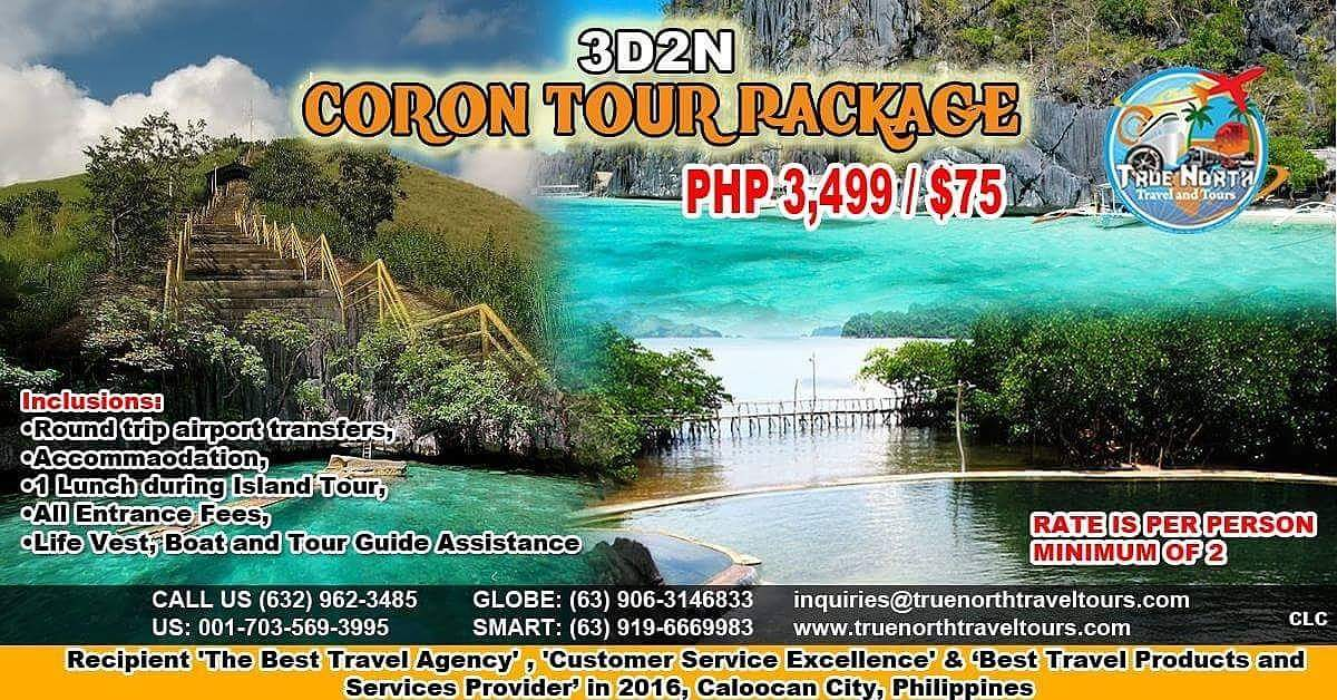 3D2N Coron Tour Package, P3,499 ($75)/person, reservations@truenorthtraveltours.com, #tourists #vacations #traveler #asiantravel #company <br>http://pic.twitter.com/xGtGmW501c