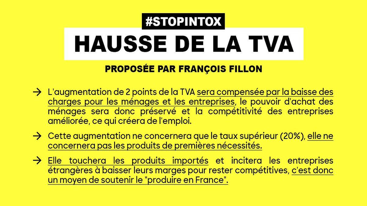 La vérité sur la hausse de la TVA proposée par @FrancoisFillon. #LEmissionPolitique