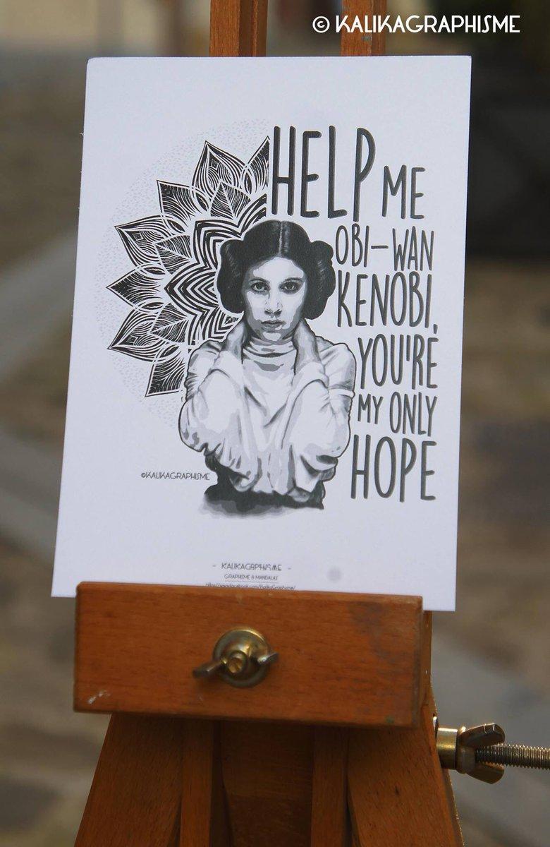 Nouvelle carte postale disponible ds le #etsyshop ! #GraphicDesign #kalikagraphisme #mandala #StarWars #princessleia  https://www. etsy.com/fr/listing/505 152668/carte-postale-princesse-leia-mandala &nbsp; … <br>http://pic.twitter.com/MAoKRaQvyx