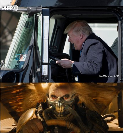 gghadley donald trump drives truck