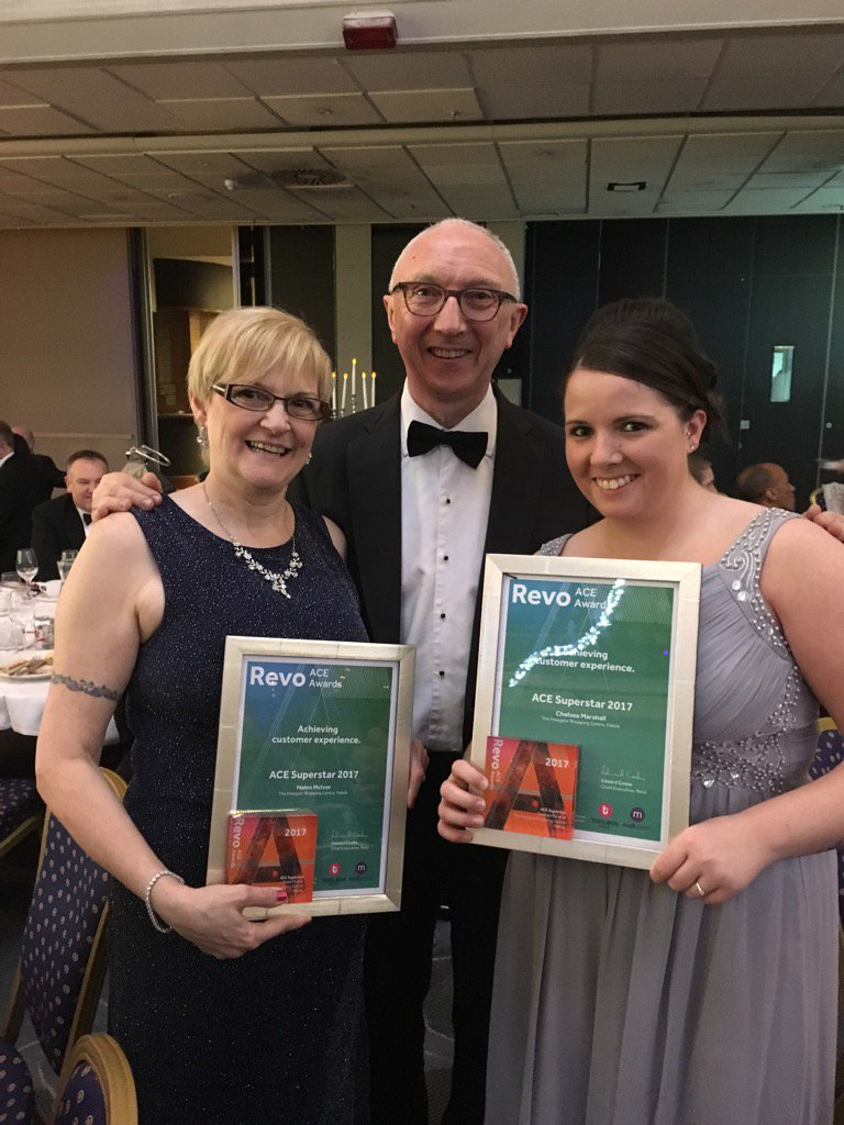 Congratulations to Helen & Chelsea from Howgate Falkirk - ACE superstar winners! #SCMC2017 #customerexperience
