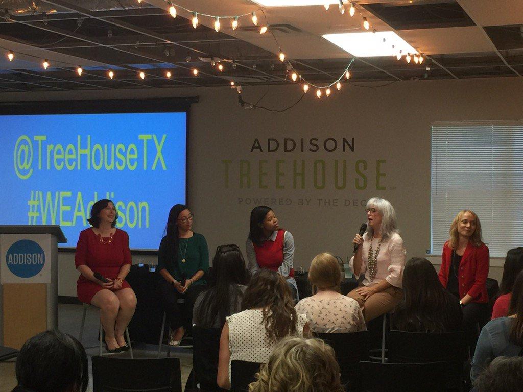 @TreeHouseTX #WEAddison @MelindaLockhart - great panel ⭐️⭐️⭐️⭐️⭐️ https://t.co/9B7DPqPvPk