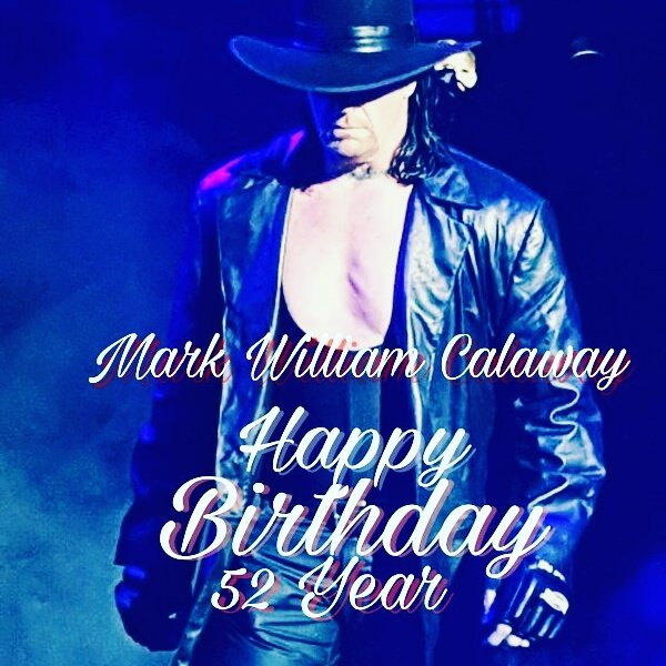 ... Happy birthday the greatest legendary undertaker sir ..  52 year celebrate party 2017 ... 24-1