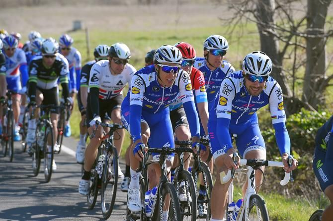 Boonen and Gilbert team up for Quick-Step Floors at #E3Harelbeke | htt...