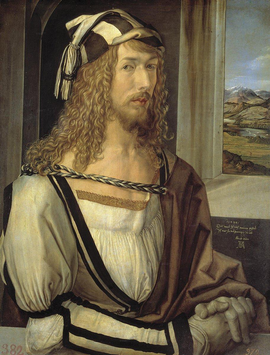 Self-Portrait by Albrecht Durer (1498) #northern renaissance #art<br>http://pic.twitter.com/7hwwzXQBHZ