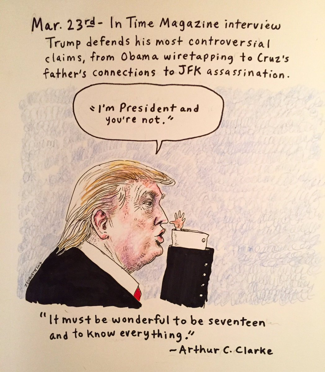 Day 62: In which our President continues his Benjamin Buttoning. #thedailydon #resist #thisisnotnormal <br>http://pic.twitter.com/Iue0R4zgcy