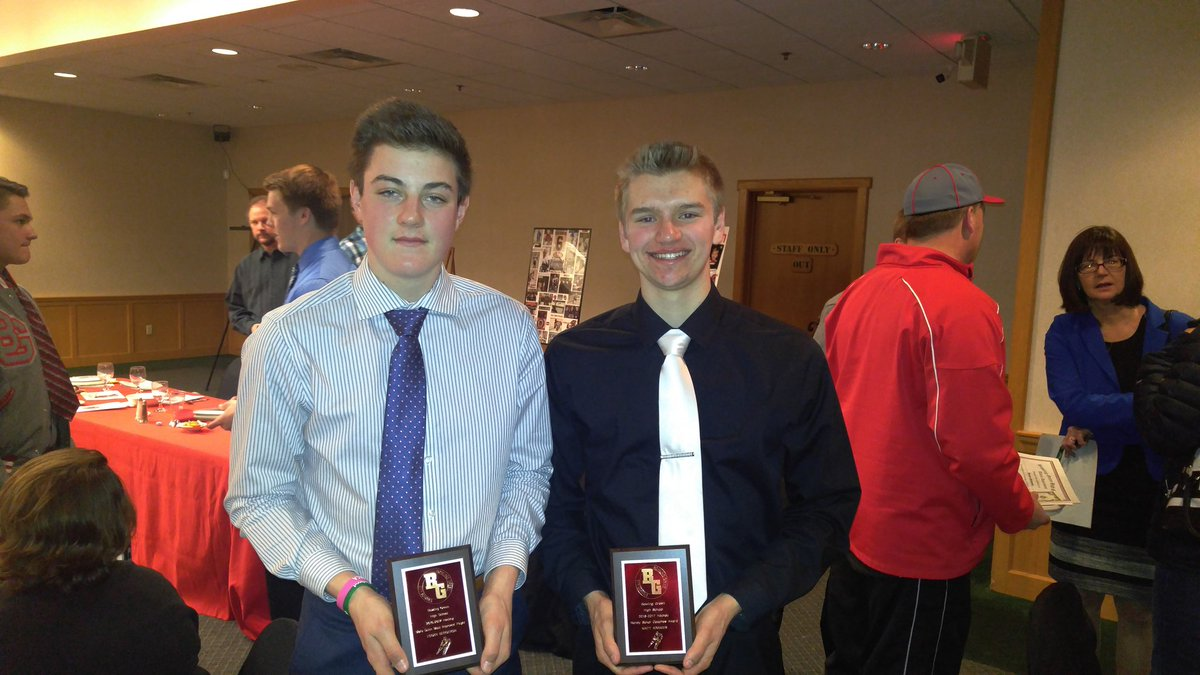 bg bobcat hockey on twitter logan bergeron marv dunn most improved