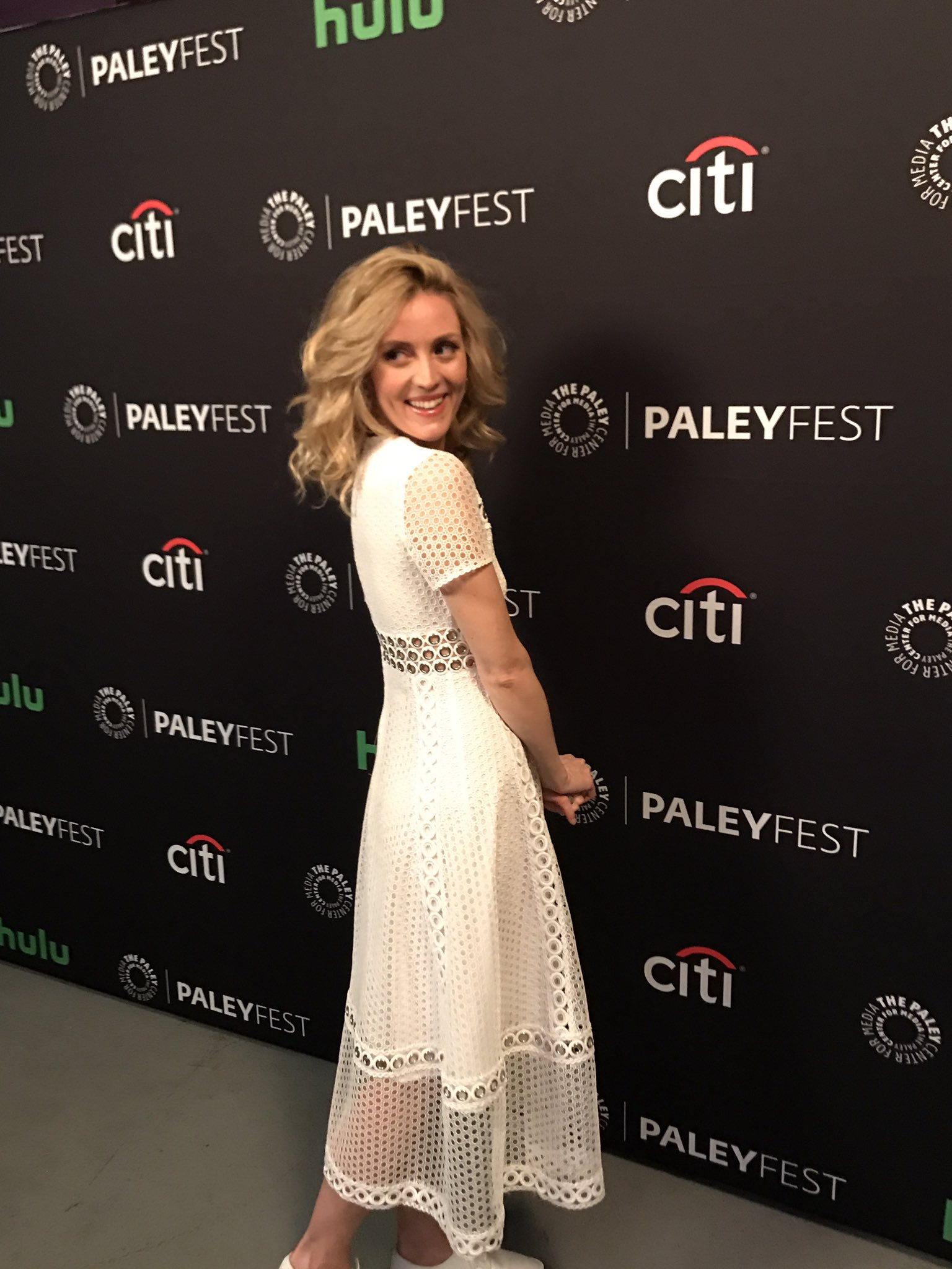 Evelyne Brochu looking positively angelic for @OrphanBlack at #PaleyFest tonight. 😇👯🌟 https://t.co/QaQuDrfi0q