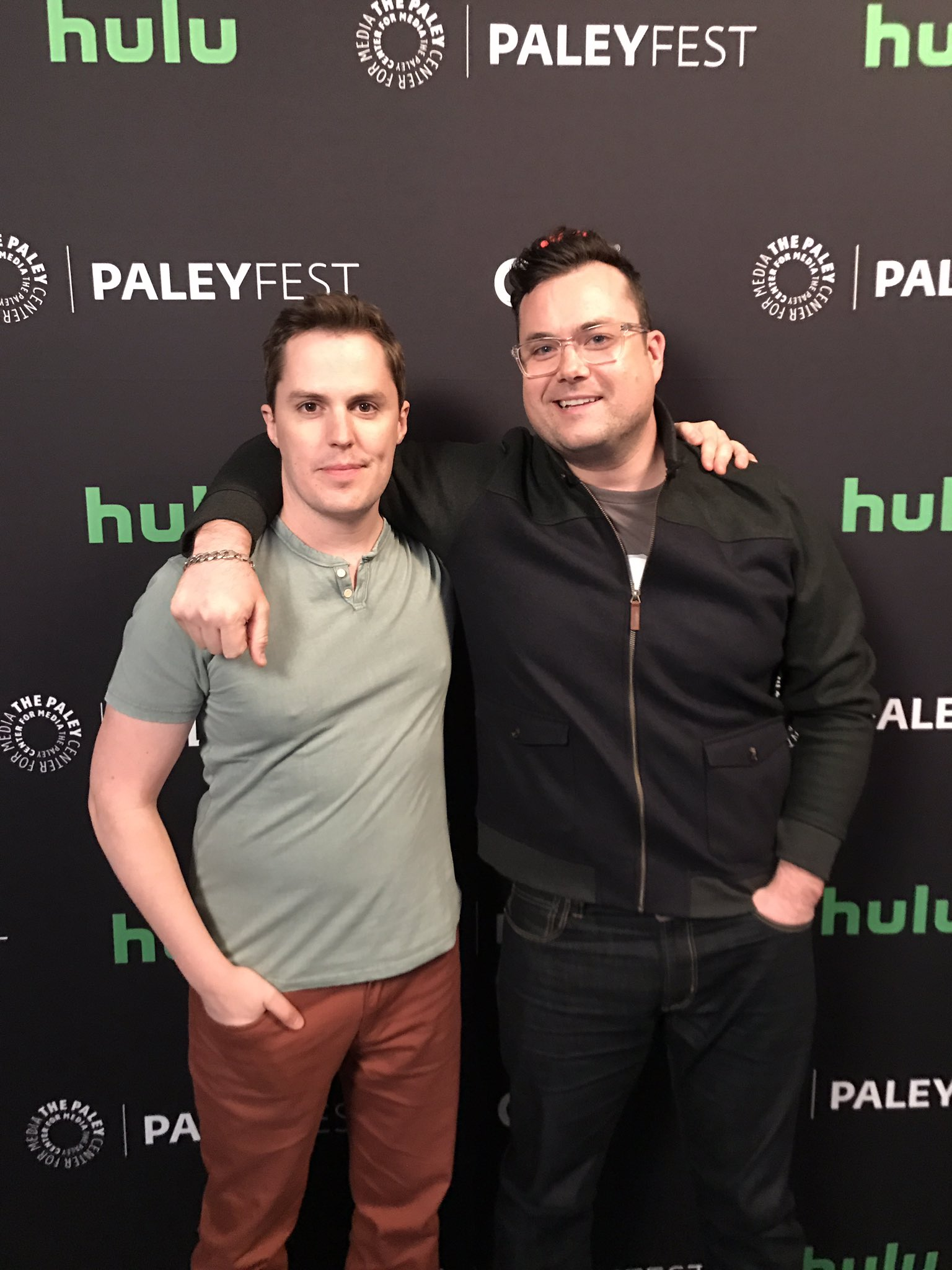 Donnie and Scott aka Kristian Bruun and @joshvokey arriving at #PaleyFest to celebrate all things @OrphanBlack 📺🌟👯 https://t.co/1H2dsysoSM