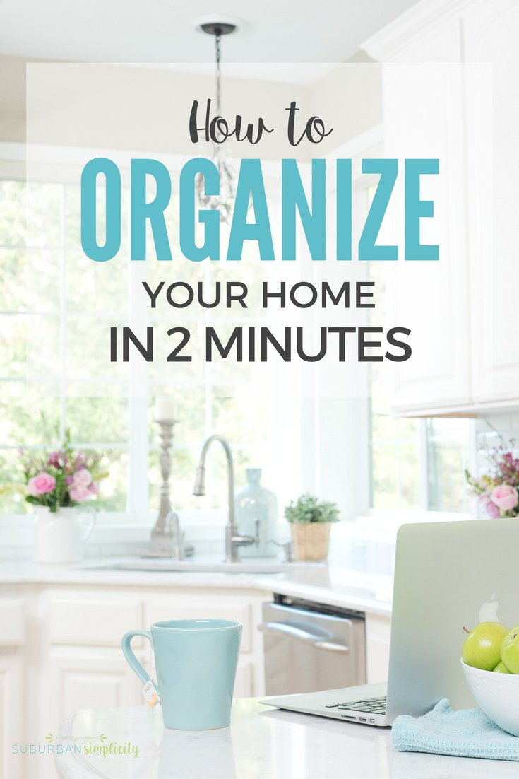 Organize Your Home In 2 Minutes with these simple tips! https://t.co/b...