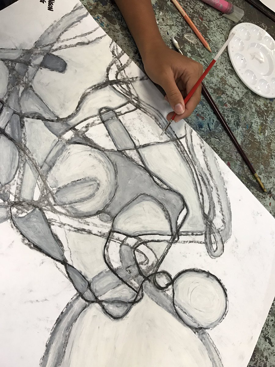 Shape, size, scale, space.... #artsed @StHildasQld
