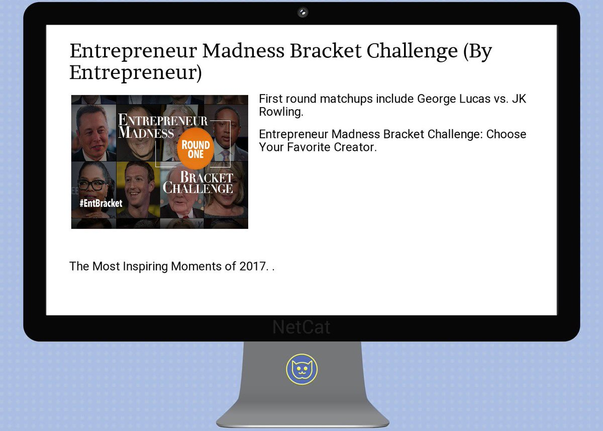 #startup #summary: entrepreneur  #madness  #bracket  #challenge<br>http://pic.twitter.com/OmHAwWNDsX