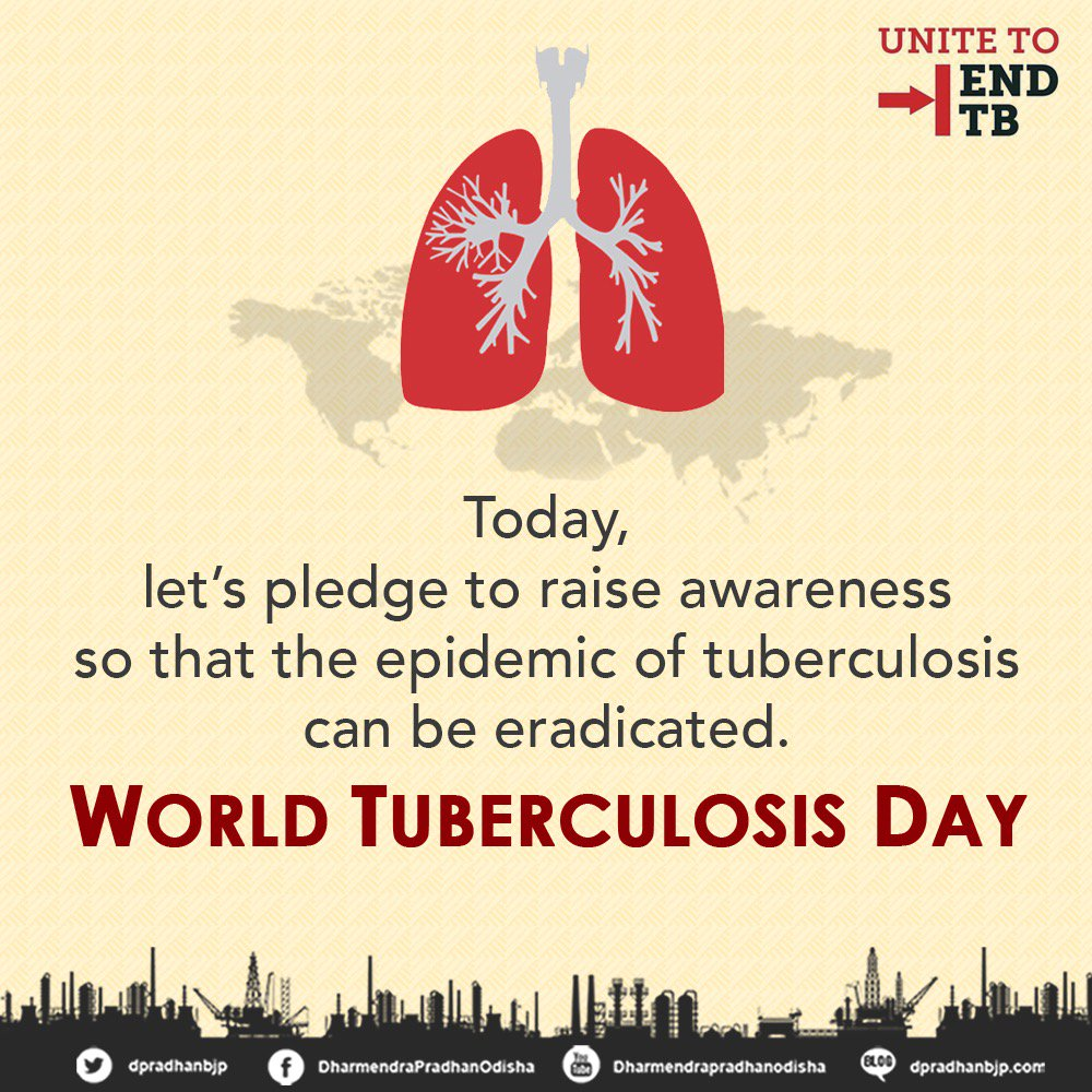 Let's pledge to raise awareness so that the epidemic of #tuberculosis...