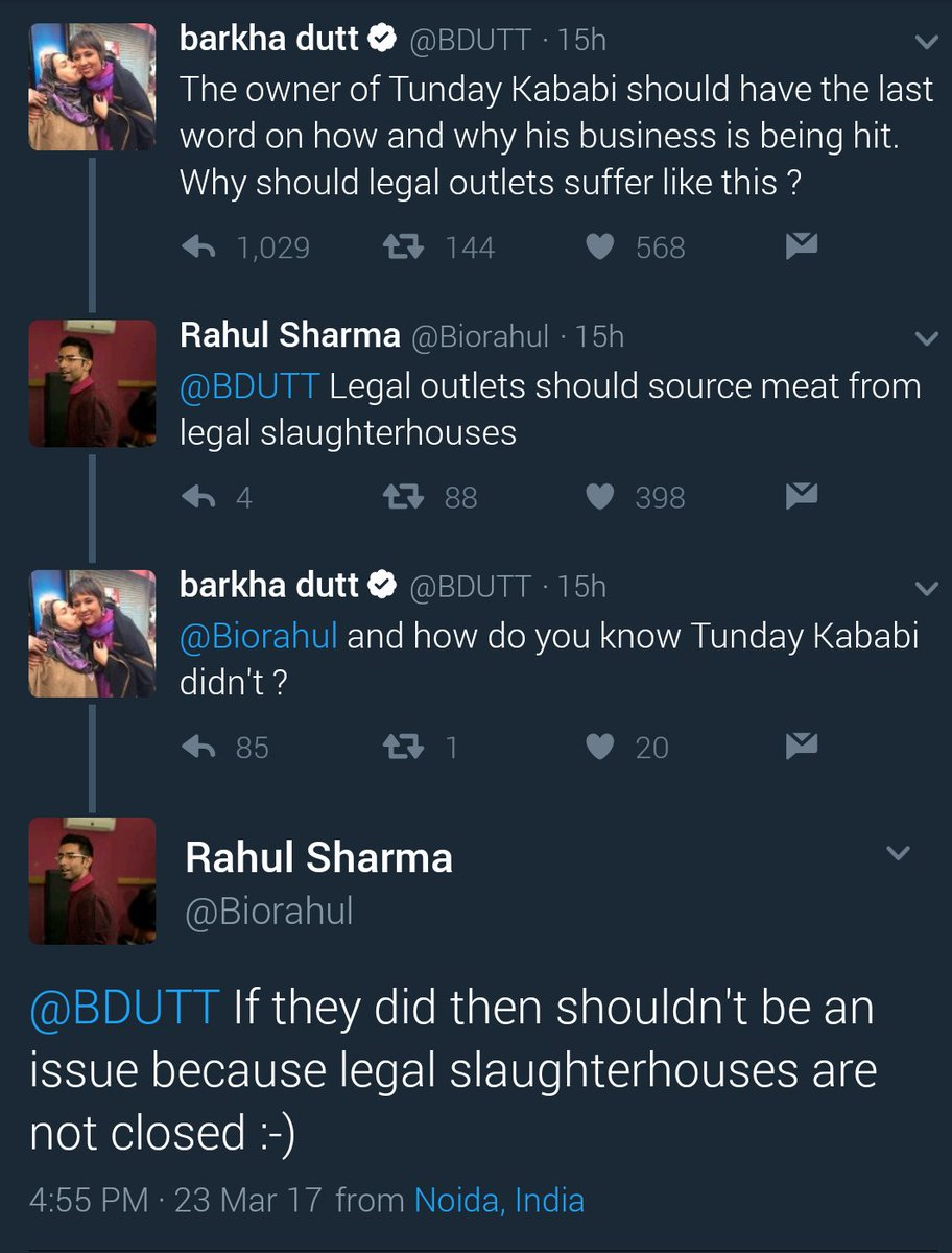 Seems my conversation with Barkha on Tunday Kababi has gone viral. Saw it on FB also