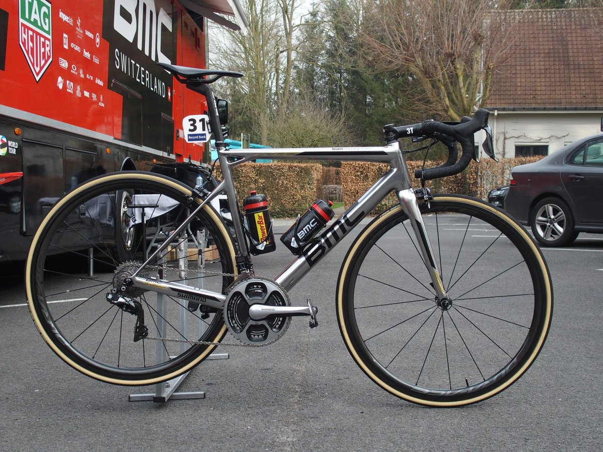 .@GregVanAvermaet's chrome #BMCTeammachine is ready for #RBE3H. Greg's...