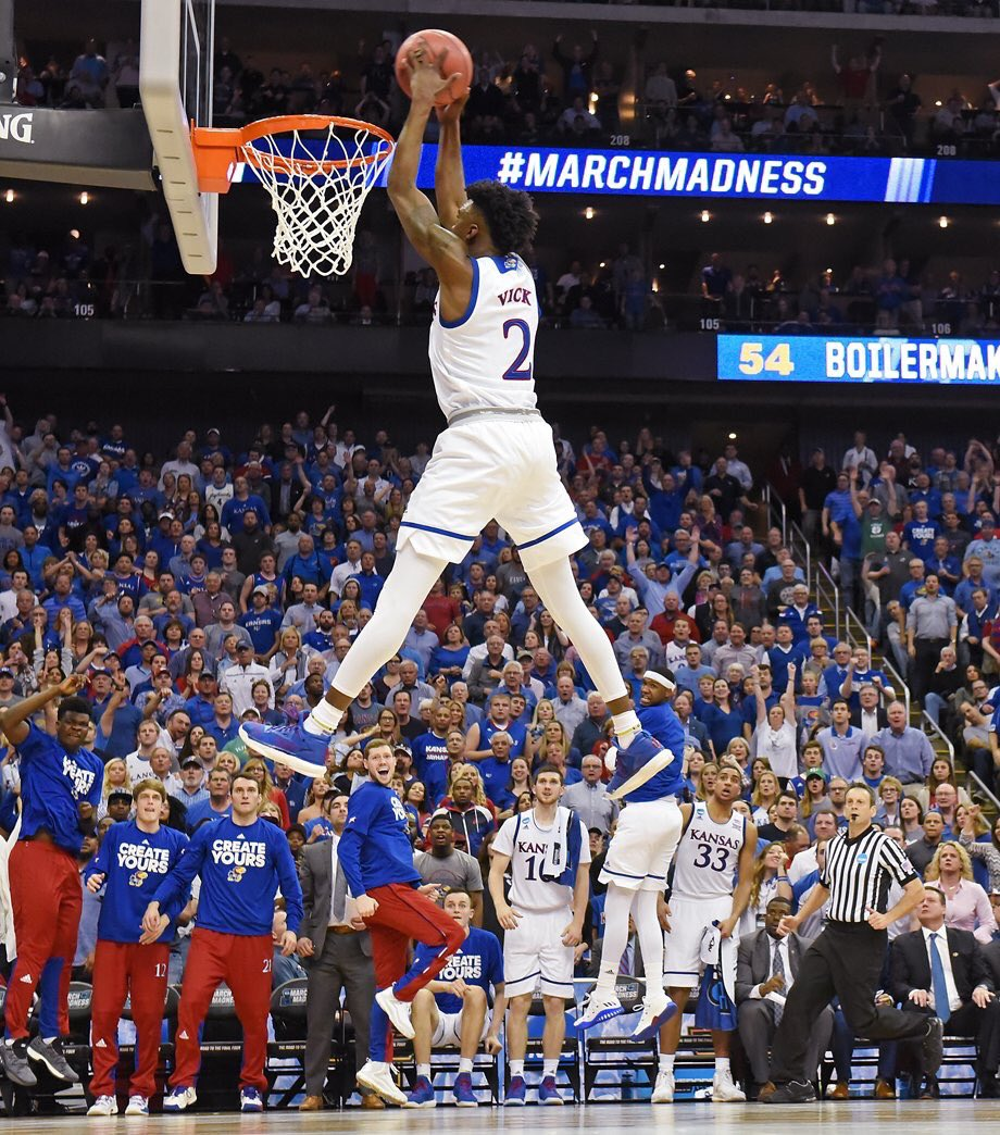 This photo by @kcstarrich of Vick's 360 dunk is better than the dunk. And that ain't easy. https://t.co/xHzO1AGQlT