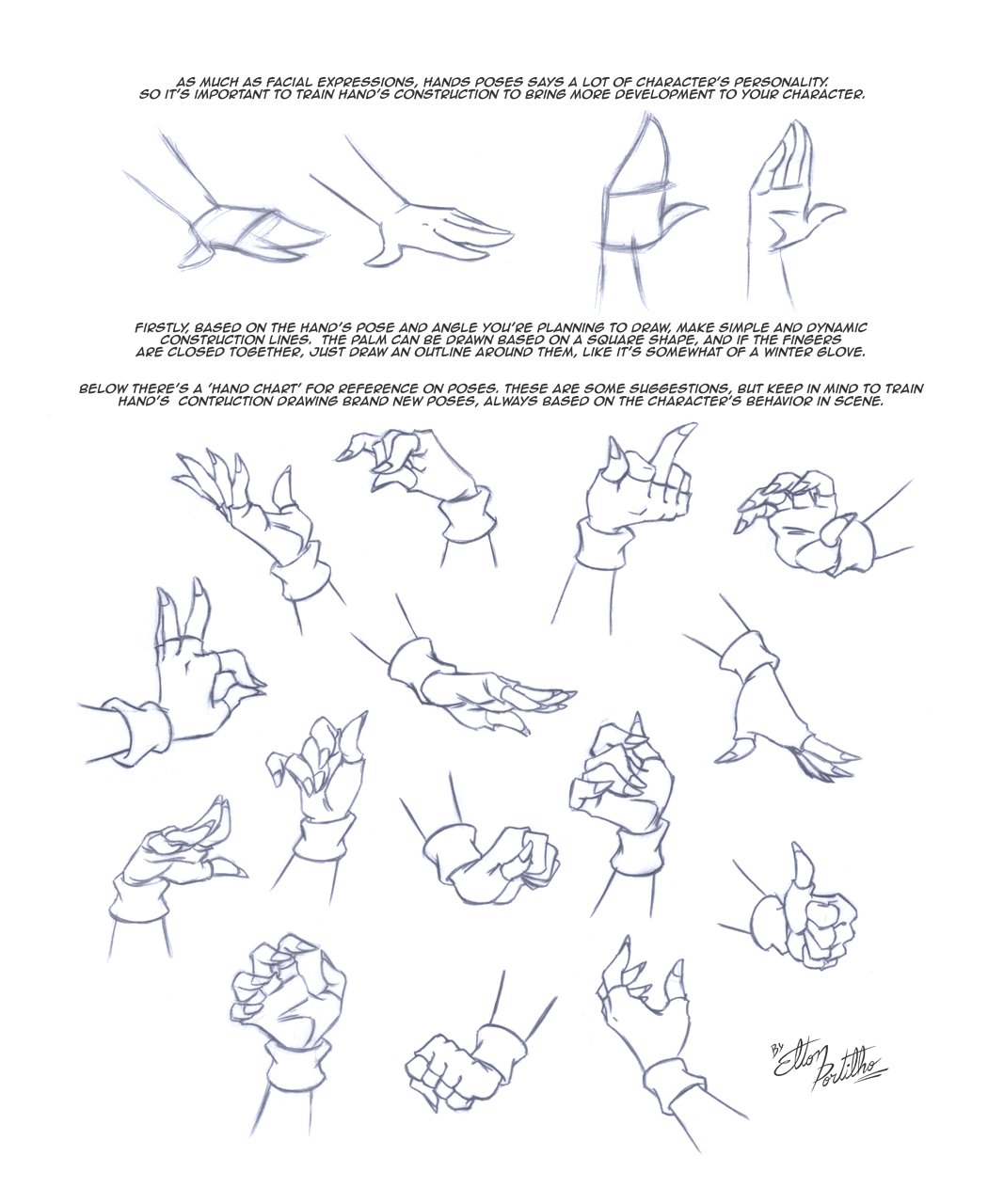 how to draw left hand