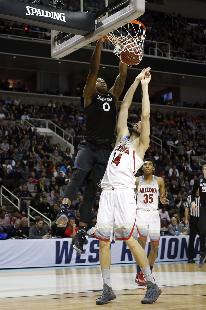 WE'VE GOT AN UPSET.  No. 11 Xavier defeats No. 2 Arizona, 73-71 to adv...
