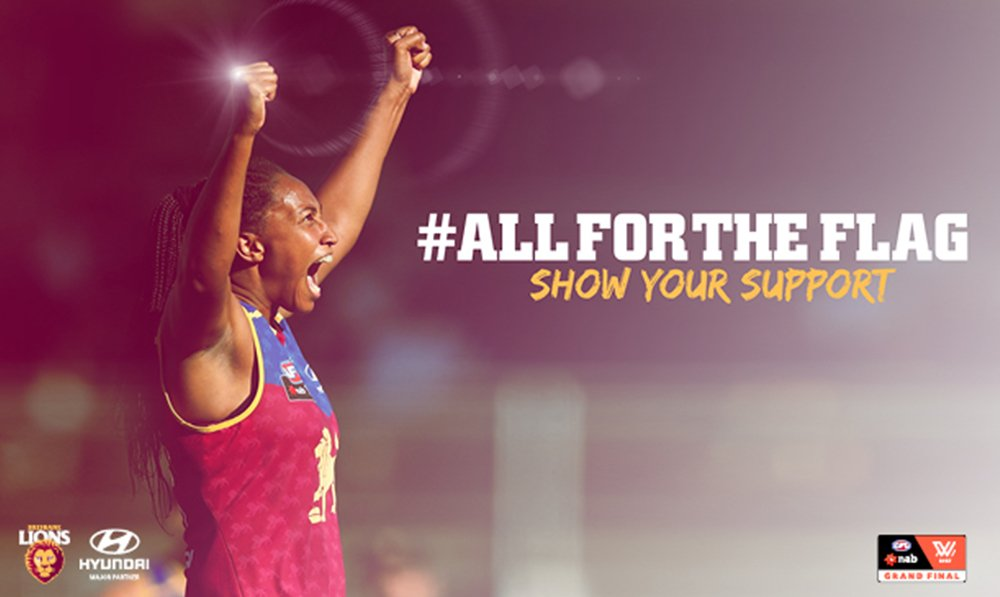 Wishing the Brisbane Lions Women's team all the best for tomorrow's NAB AFLW Grand Final. Go Lions! #AFLWGF #AFLWomens #AllfortheFlag https://t.co/jcFtjPHFqo