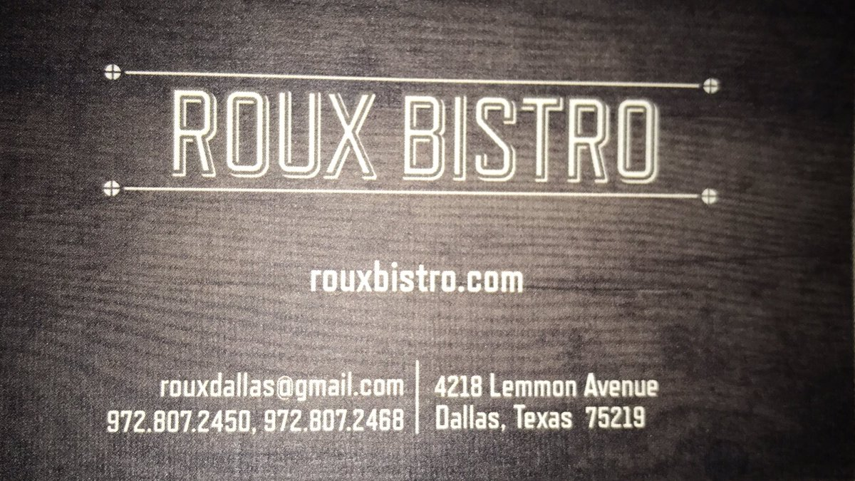 Soft opening this week @ ROUX BISTRO. Great food &amp; service, come enjoy yourself. #freshkitchen #DallasTX #enjoylife #seafood #servicepublic <br>http://pic.twitter.com/uH3RVqj93r