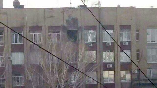 Обстрел воинской части в Донецке