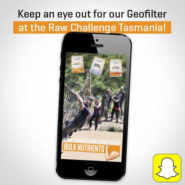 Heading to the @RawChallenge #Tasmania tomorrow? Use our custom #BulkNutrients #Snapchat #Geofilter to make your pictures more fun! <br>http://pic.twitter.com/u4TQ0l53Qg