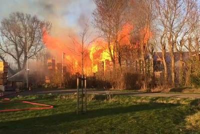 Luchtalarm in Kapelle bij zeer grote brand in Kapelle