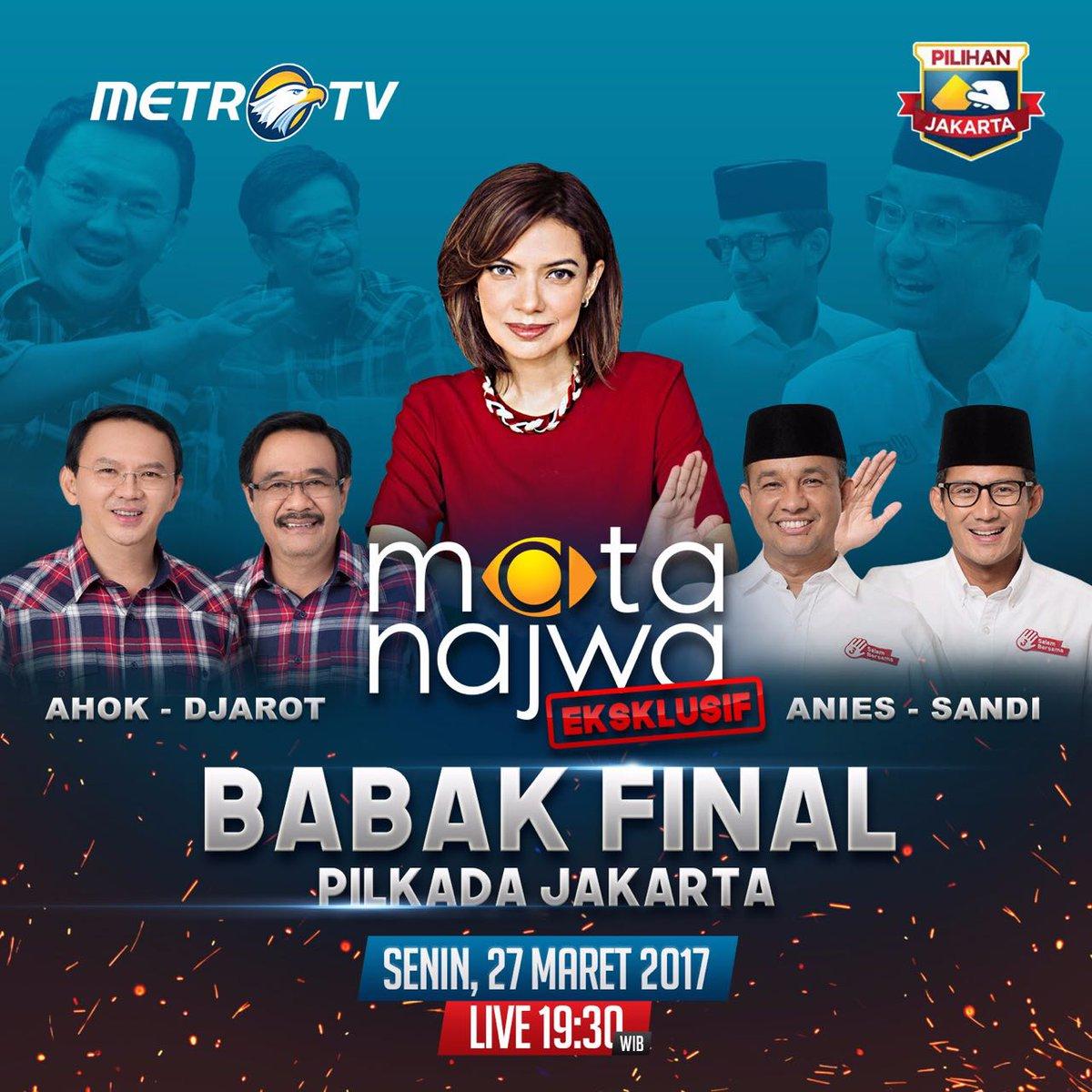 Mata Najwa Babak Final Pilkada DKI