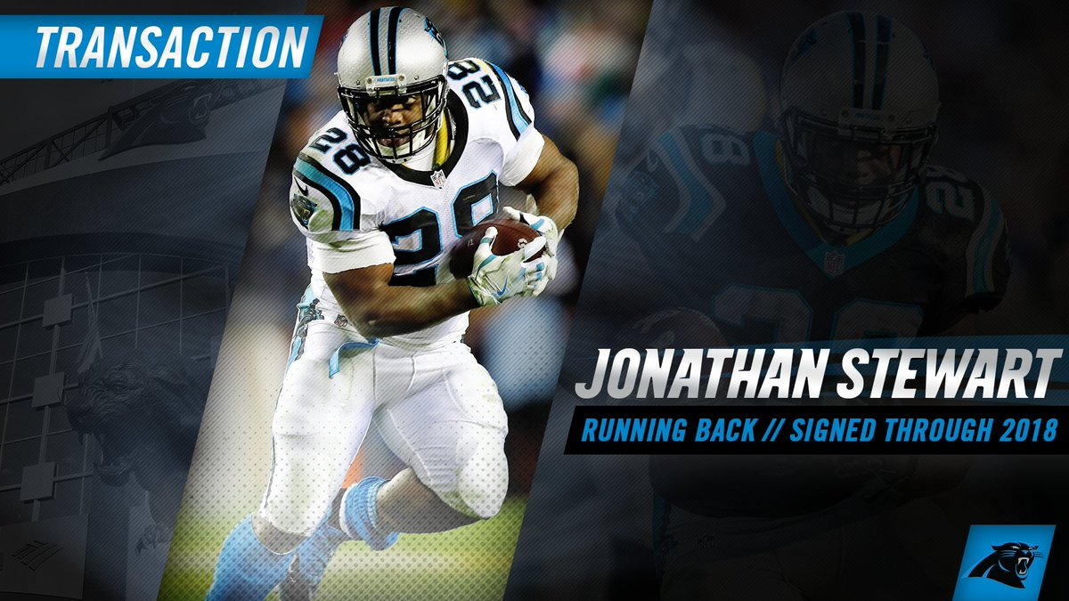 The #Panthers have signed RB Jonathan Stewart to a contract extension...