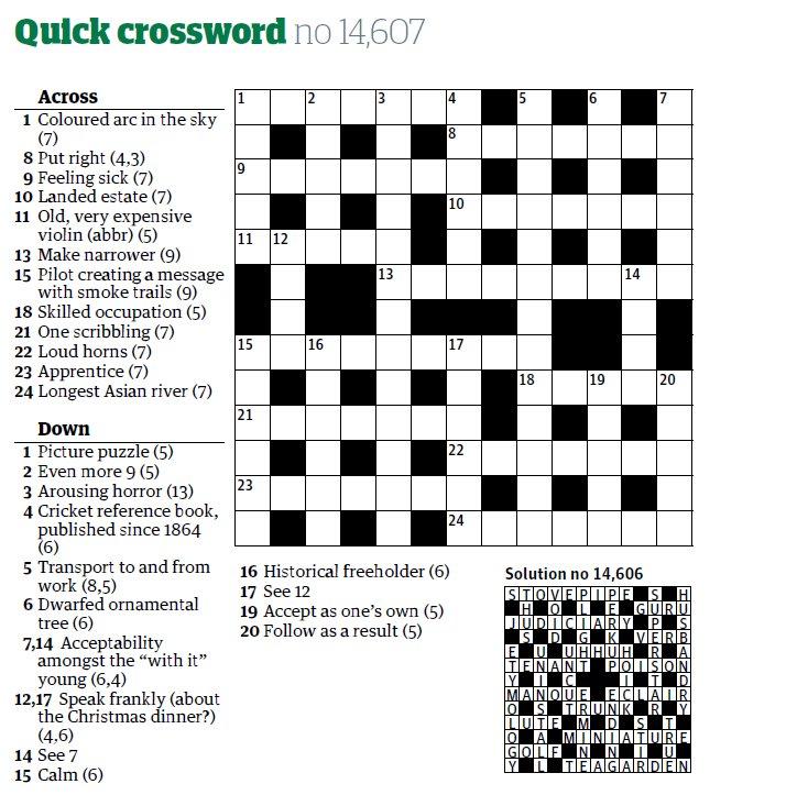Wisden Almanack on Twitter  4 down in yesterdayu0027s quick @guardian crossword... //t.co/6E6dWS4XkR   sc 1 st  Twitter & Wisden Almanack on Twitter: