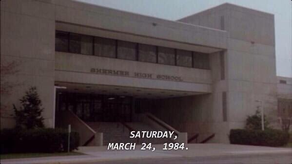 Mar. 24, 1984, this is the date that 5 students spent their Saturday in detention in The Breakfast Club. #80s https://t.co/ygeitEo65U