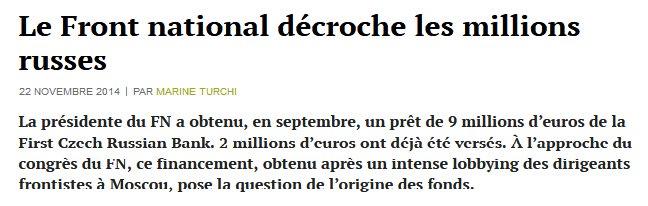 Pas étonnant que Vladimir #Poutine reçoive Le Pen : ça fait bien longtemps qu&#39;il l&#39;a littéralement... acheté. Et le #FN avec elle.<br>http://pic.twitter.com/Umd3bWfOlC