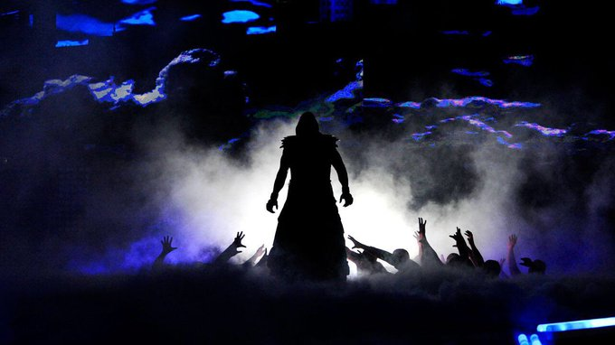 Happy Birthday to my childhood hero The Undertaker. Here he is doing his entrance at WrestleMania 29.