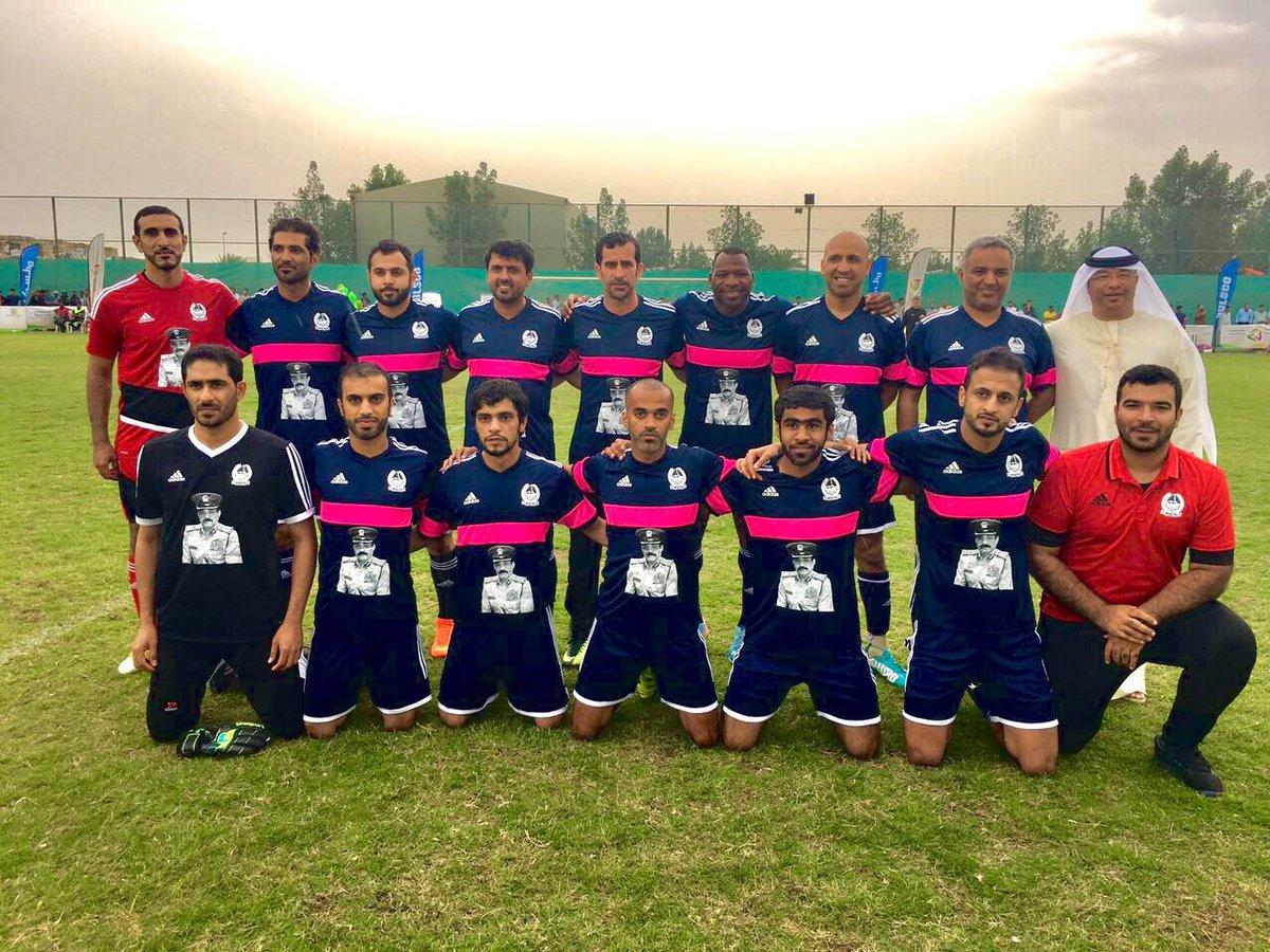 القائد العام لـ #شرطة_دبي يشارك في مباراة الوفاء على كأس المغفور له بإذن الله الفريق #خميس_مطر_المزينة