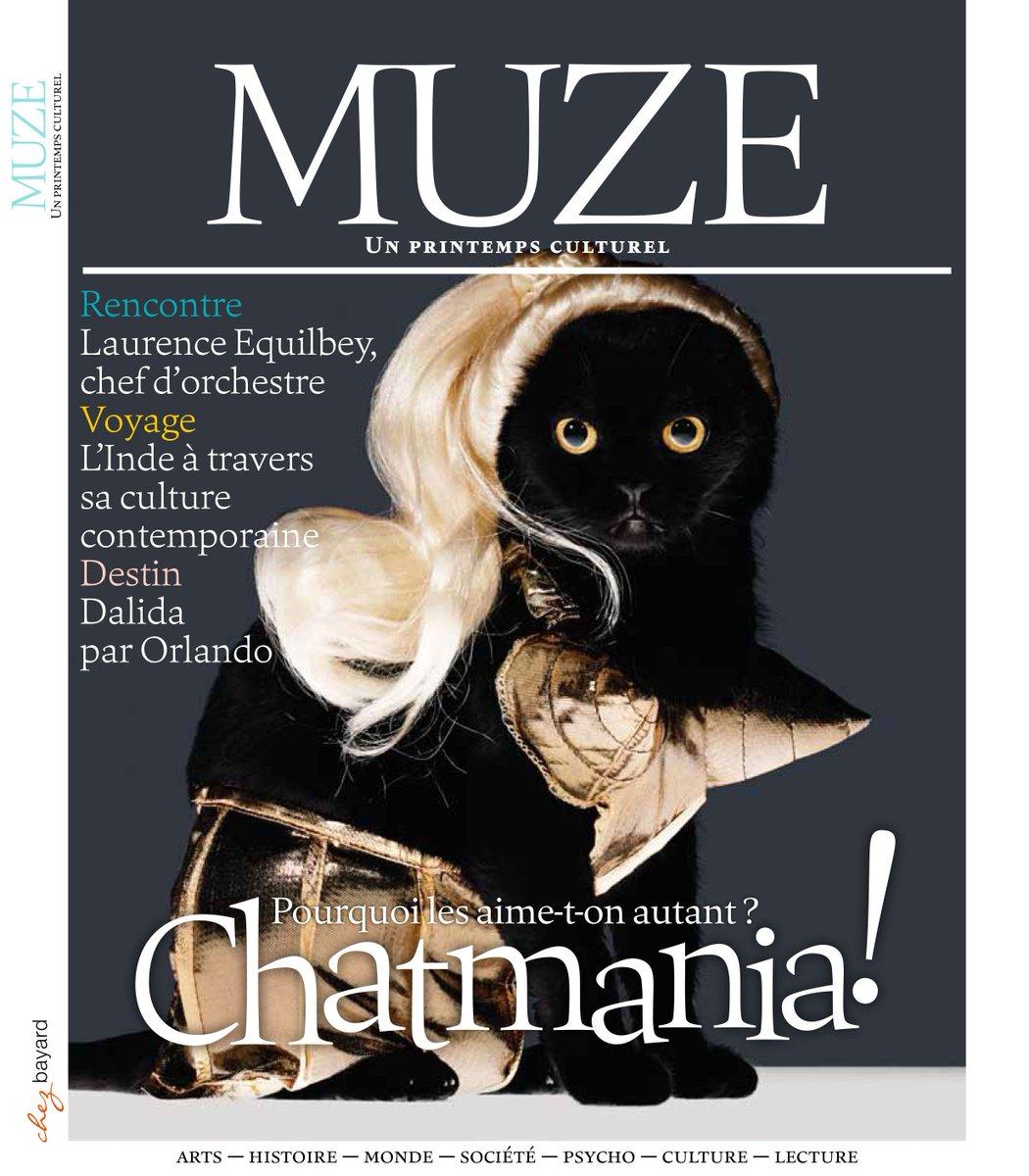 Ne ratez pas le dernier n° de @MuzeMagazine &gt; #Chatmania, #LaurenceEquilbey, @AnneNivat, #jardins, #Inde, #Dalida :  http:// bit.ly/2lZnvgp  &nbsp;  <br>http://pic.twitter.com/ndj1yCAjJ6