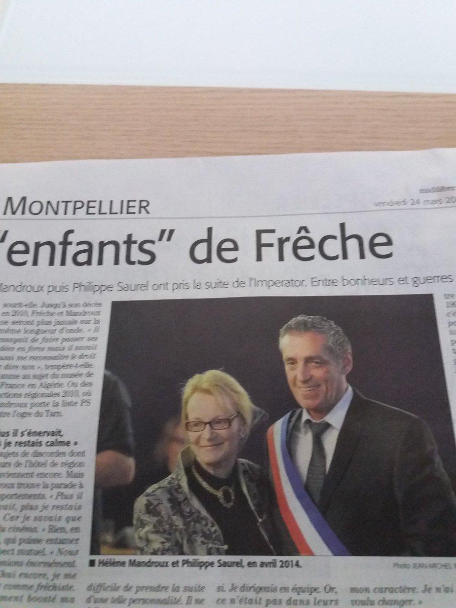Philippe Saurel digne successeur de G .Frêche @saurel2014 #midilibre <br>http://pic.twitter.com/V6eHWS9djO