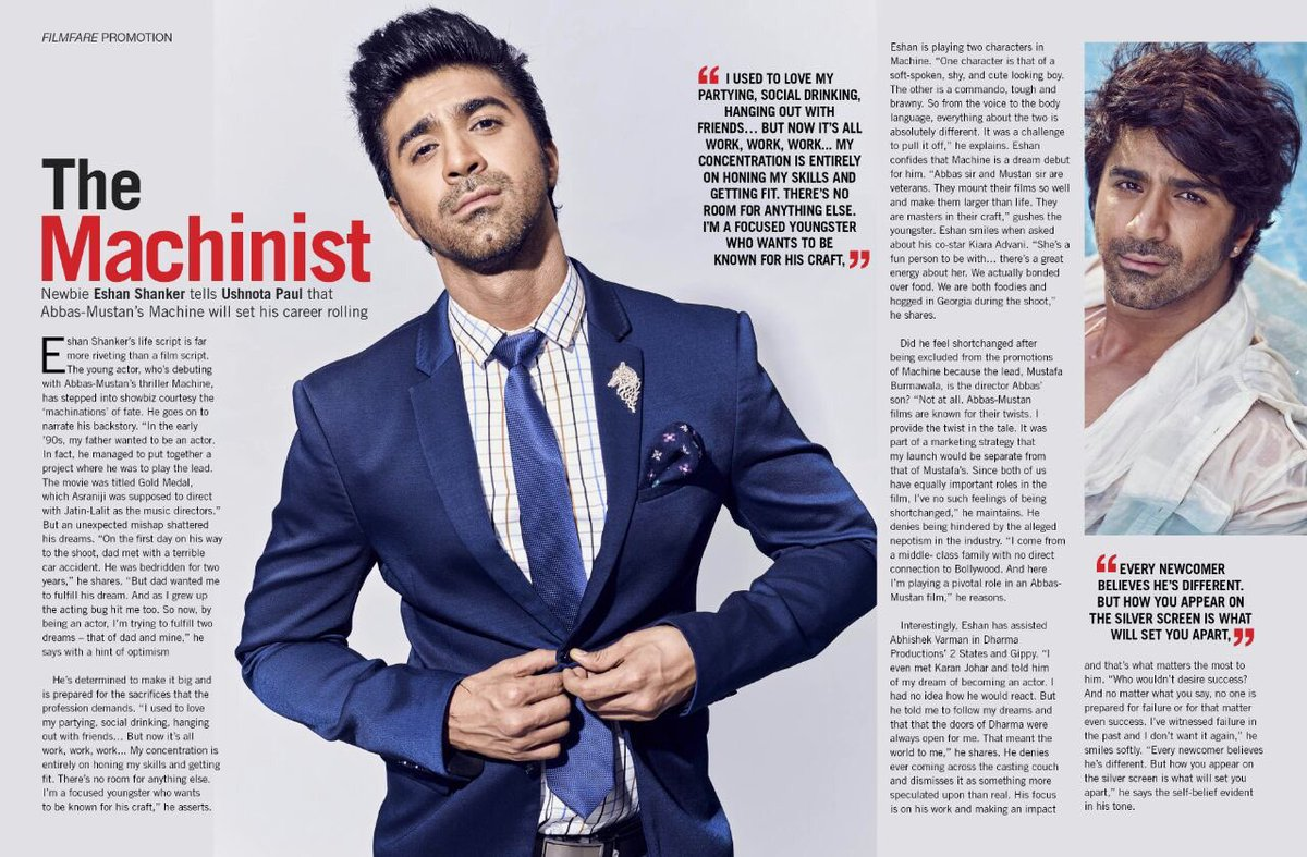 shuddhi shuddhithefilm twitter find out how karanjohar inspired this dharmamovies ad eshanshanker to become an actor in the latest filmfare issue machinepic com v6ty3operm