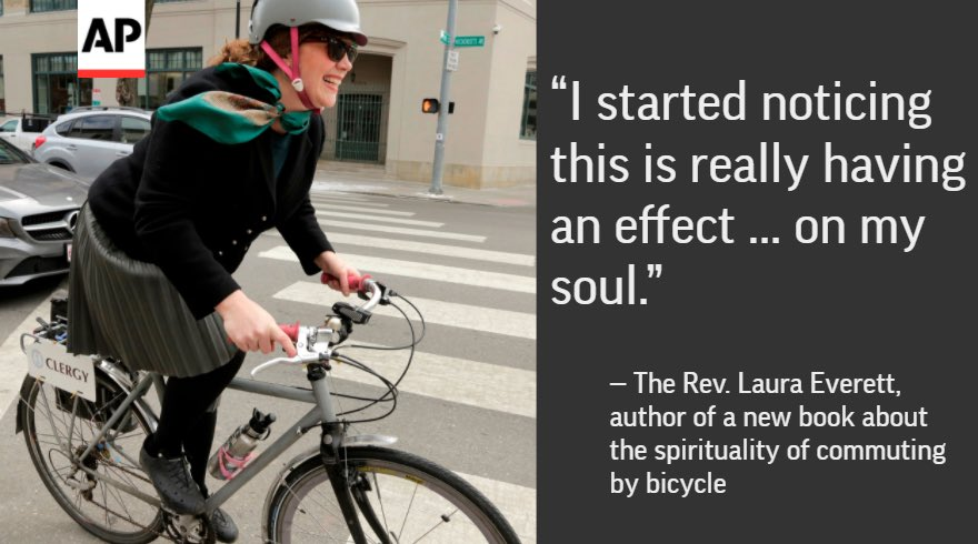 Holy spokes: When her car died, this minister started cycling to work — and immediately felt closer to God. Story: apne.ws/2nPNd7O
